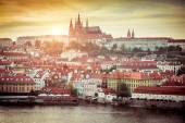 Prague Castle at sunset — Stock Photo