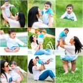 Hispanic woman and her baby — Foto de Stock
