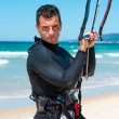 Athlet um zu kite-Surfen-training — Stockfoto #54542449