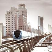 Metro de dubai. — Foto de Stock