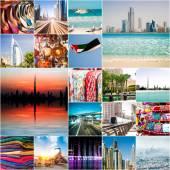 Collage of photos from Dubai — Foto de Stock