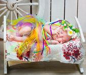 Newborn Ukrainian  girl — Stock Photo