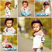 Dívka v kolečkové brusle — Stock fotografie
