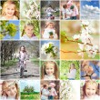 Spring theme with kids — Stock Photo #57733165