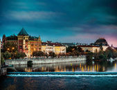 View of the evening Prague — Stock Photo