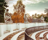 Amphitheatre in Lazienki Park — Stock Photo
