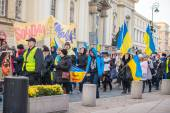March of solidarity with Ukraine — Stock Photo
