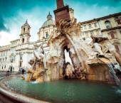 Fountain in Piazza Navona — Stock Photo