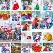 Christmas family photos — Stock Photo
