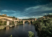 Toledo over sunset in Spain — Stock Photo