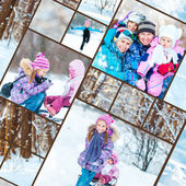 Family  winter photos — Stock Photo