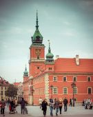 Royal Castle Square  in Warsaw — Stock Photo
