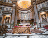 Interior of the Pantheon in Rome — Stock Photo