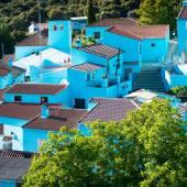 Blue Andalusian village in Malaga — Stock Photo