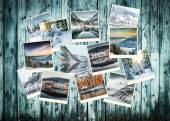 Winter photo collage of Norway — Stock Photo