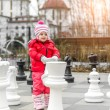 Little cute girl at playing — Foto de Stock   #64330011