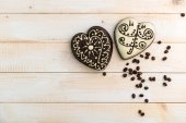 Gingerbread cookies in  form of hearts — Stock Photo