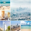 Collage of photos from Dubai — Stock Photo #66602175