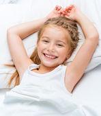 Smiling little girl woke up  — Foto de Stock