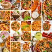 Пицца и специй — Стоковое фото