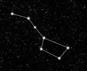 Constellation great Bear — Stock Photo