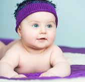 Close-up newborn girl — Stock Photo