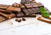 Variety of chocolate with space for text — Foto de Stock