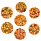Different kinds of pizzas — Stock Photo