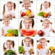 Collage of photos little girl — Stock Photo #71965087