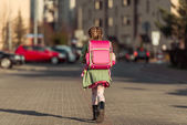 Little  girl going to school — Stock Photo