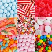 Färgglada karameller och gelé — Stockfoto