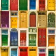 Colourful front doors to houses — Stock Photo #74659767