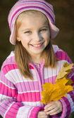 Autumn portrait of  little girl — Fotografia Stock
