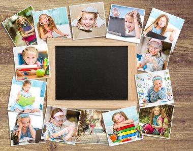Frame photos of schoolgirl