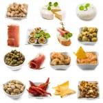 Photo collage of spanish tapas — Stock Photo #76235367