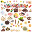 Collage of  chocolate and candies — Stock Photo #76235455