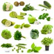 Green vegetables and fruits — Stock Photo #76245449