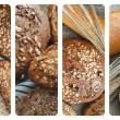 Photos of  different types bread — Stock Photo #76251267
