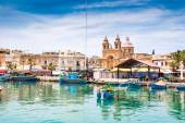 Boats in Marsaxlokk harbor,Malta — Foto Stock