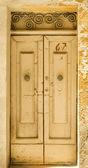 Traditional exterior door in Malta — Stock Photo