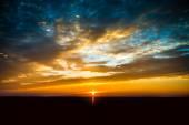 Mooie zonsondergang wolken — Stockfoto
