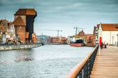 Old Port of Gdansk with the Crane — Stock Photo