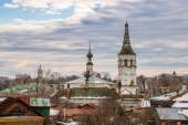Roofs of russian town Suzdal — Stock Photo
