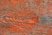 деревянные доски с трещинами красной краской — Стоковое фото