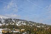 Kış Avusturya Alplerinde otelleri — Stok fotoğraf