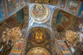 Interior of Savior on the Spilled Blood Cathedral in St. Petersb — Stock Photo