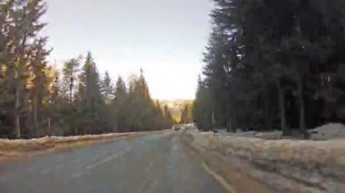 Fast driving on mountain road time-lapse — Video Stock