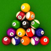Billiard  balls with numbers — Stock Photo