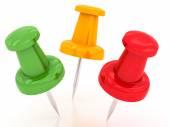 Colored pushpins — Stock Photo