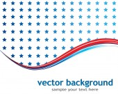 Abstract background with American flag — Stock Vector